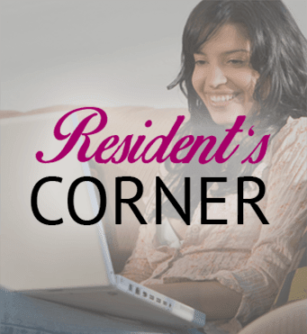 Residents corner at Barrington Apartments