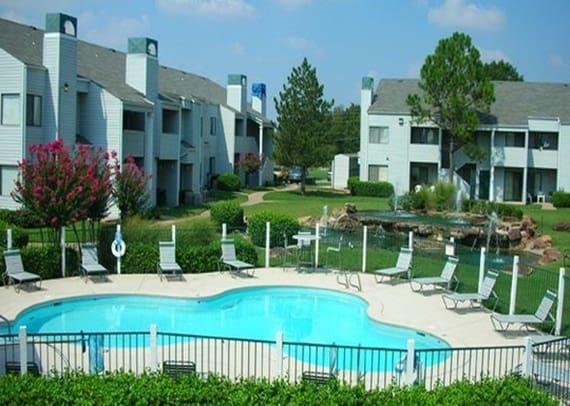 Large community swimming pool at Boulder Ridge apartments