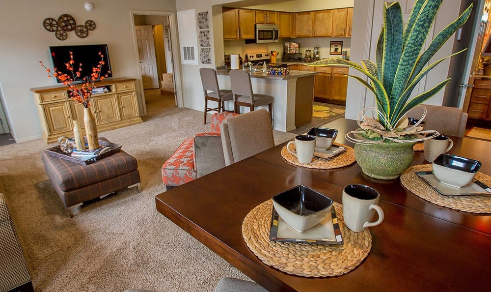 Room for entertaining at Tulsa apartments for rent