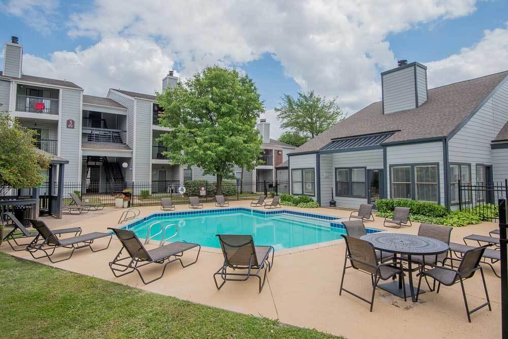 Pool at apartments in Tulsa
