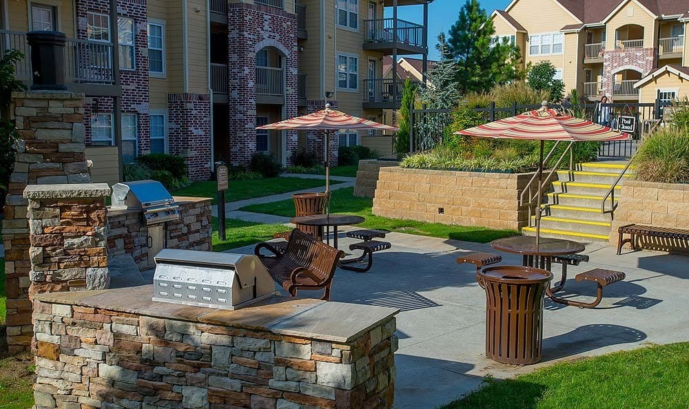 Our beautiful Apartments with outdoor grill area in Owasso