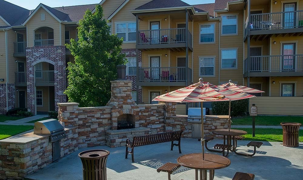 Owasso Apartments with community grill