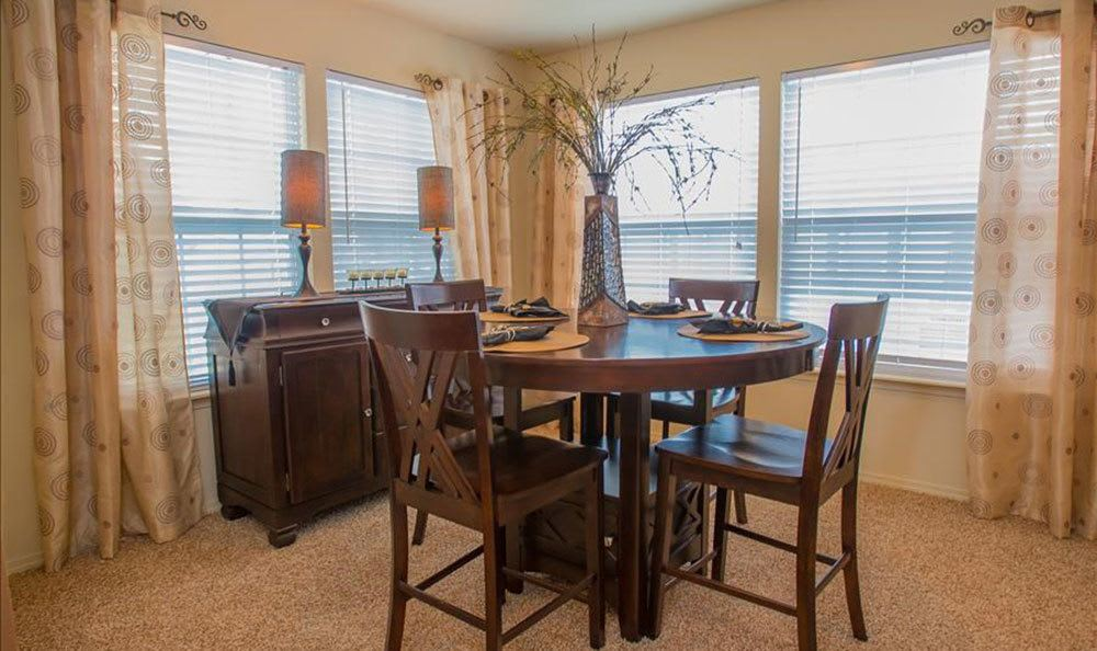 Dining area at our apartments in Owasso OK