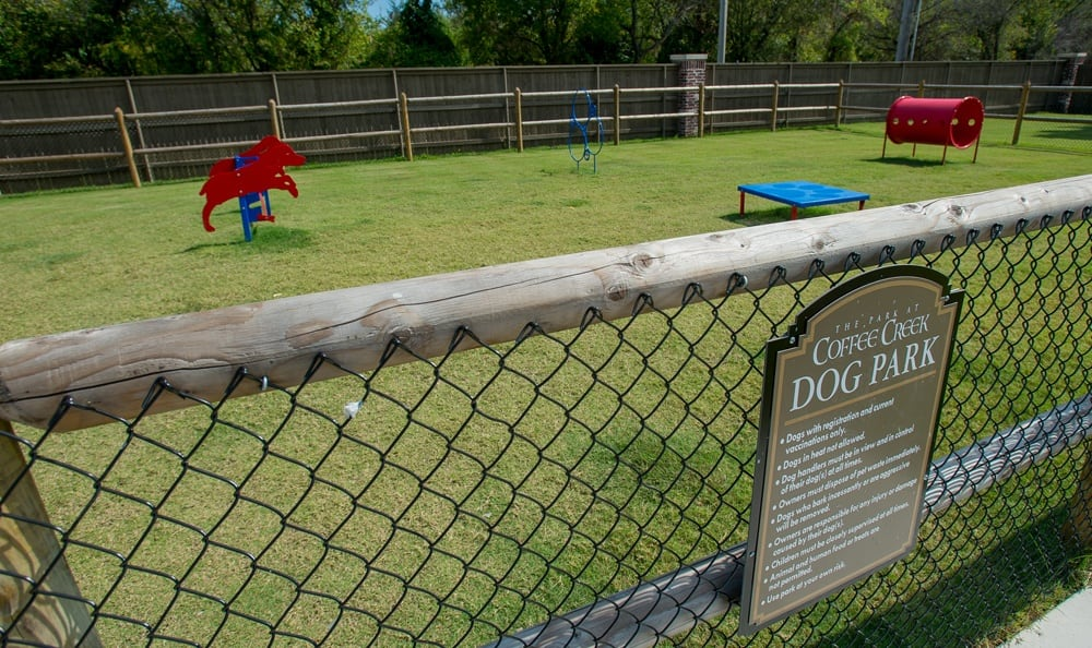Dog park at apartments in Owasso OK
