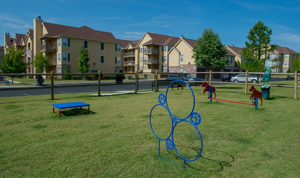 Play equipment for dogs at apartments in Owasso OK
