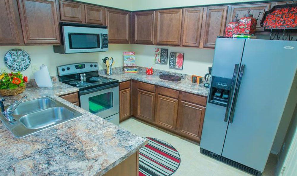 Modern kitchen at Owasso apartments