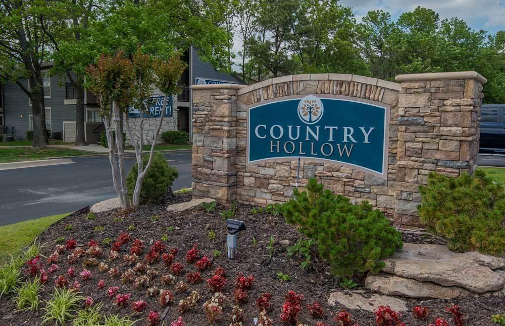 Front sign at Tulsa apartments