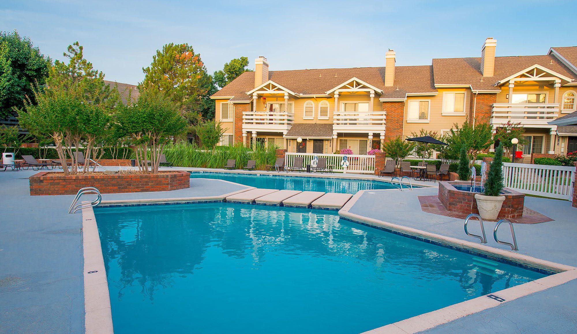 Swimming pool at tulsa apartments