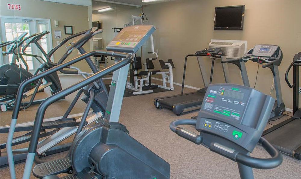 Fitness center at our Tulsa apartments complex