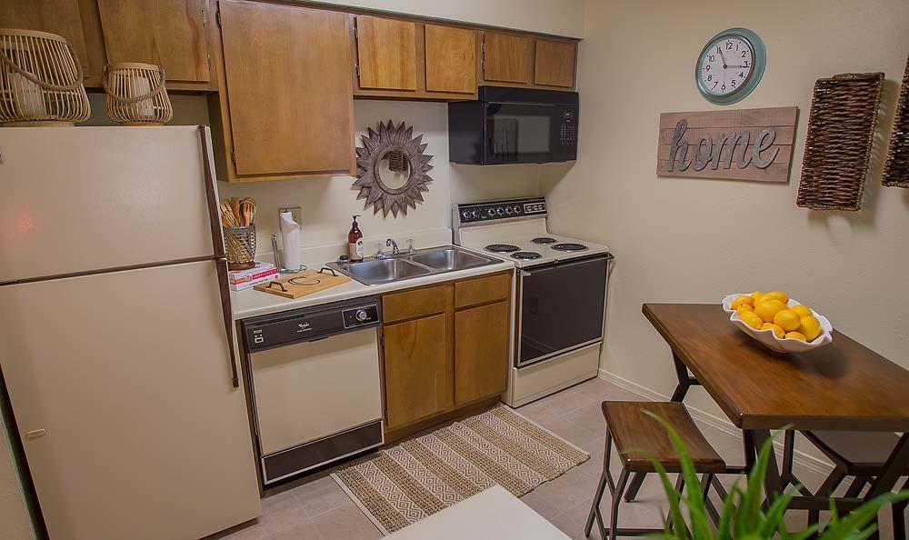 Kitchen at Creekwood Apartments