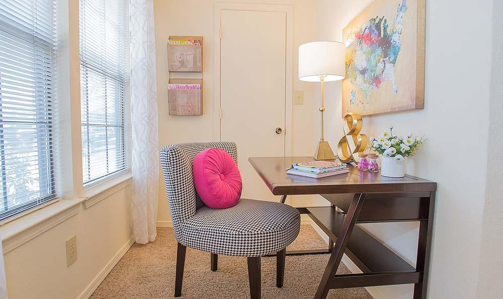 Desk at Creekwood Apartments