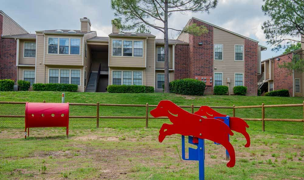 Dog agility trainer at Creekwood Apartments