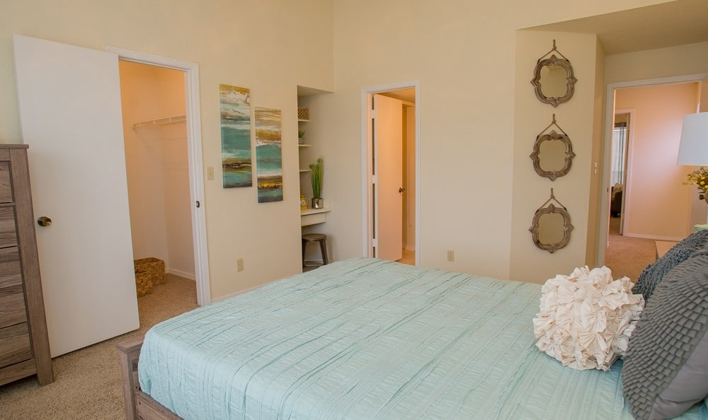 Bedroom at Creekwood Apartments