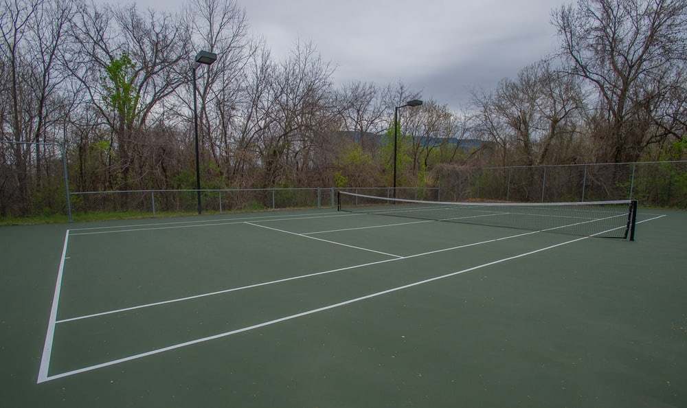 Outdoor sports courts at Creekwood Apartments