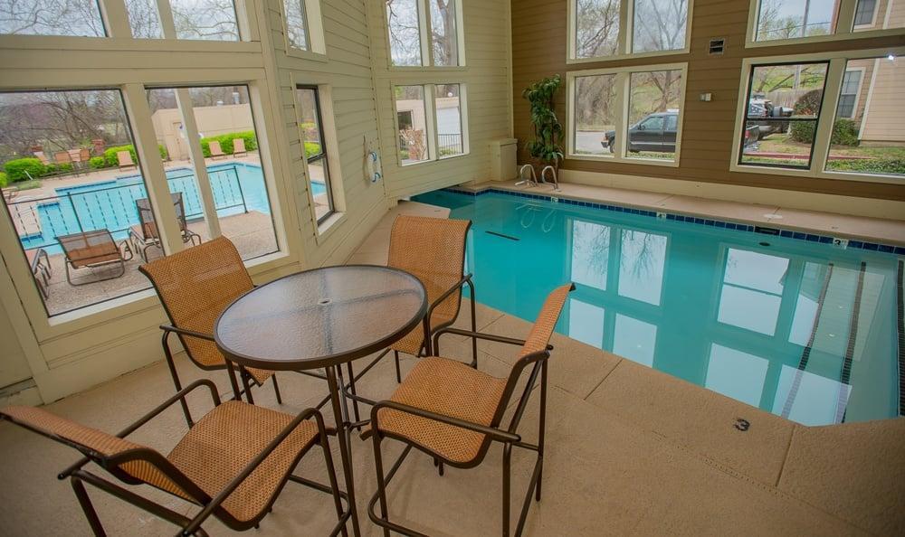 Indoor pool at Creekwood Apartments