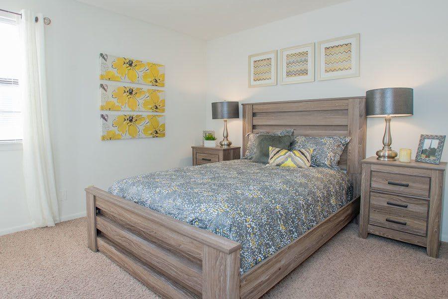 A bedroom in Tulsa