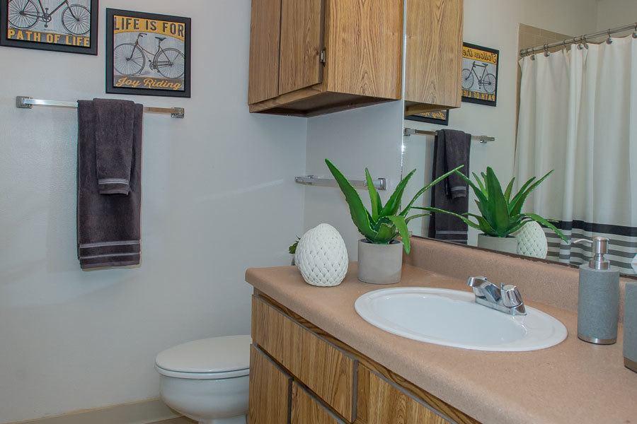 Clean bathroom in Tulsa
