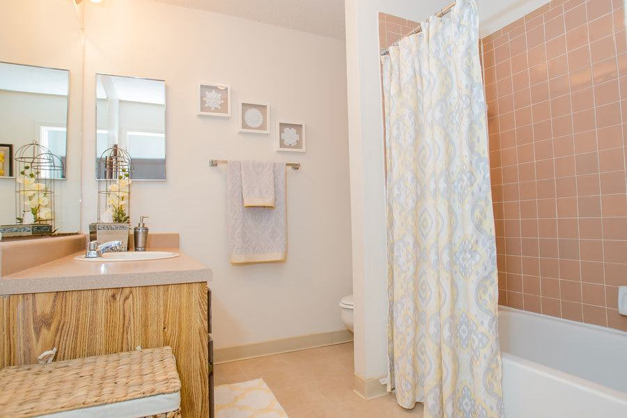 Spacious bathroom in Tulsa