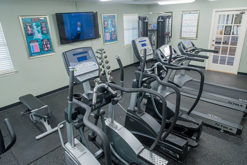 Fitness center at The Greens Of Bedford