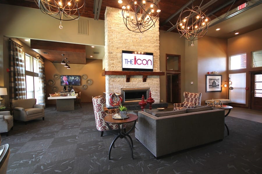 Lobby at The Icon at Lubbock