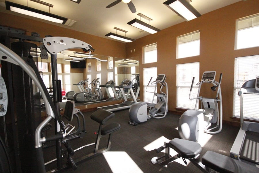 Fitness facility at The Icon at Lubbock