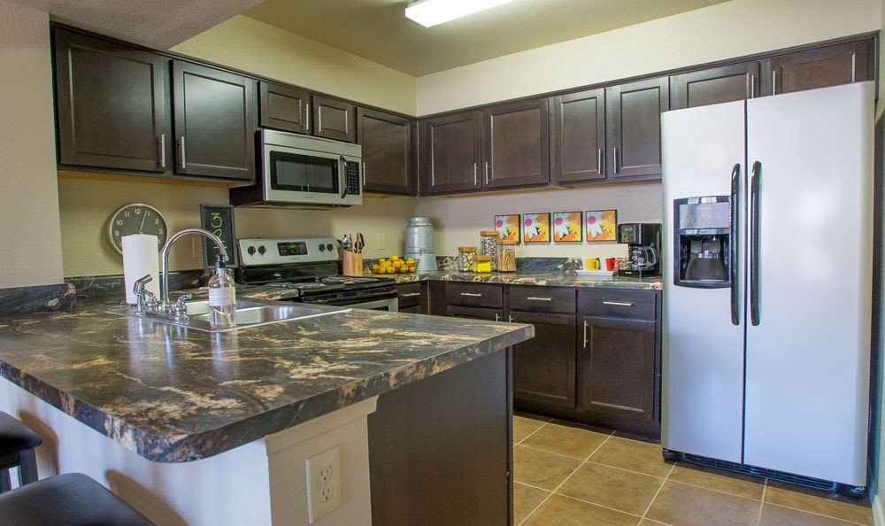 Great kitchens in our apartments in Moore, OK