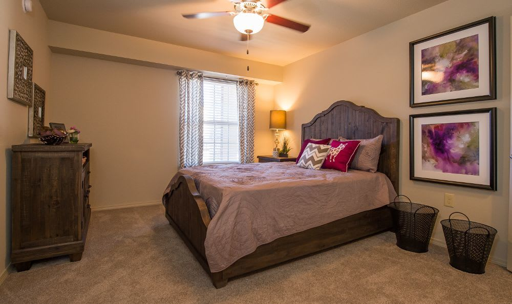 Nice and comfortable bedroom in our apartments in Moore, OK