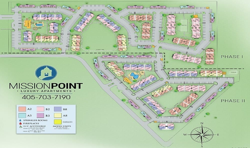 Map of Mission Point Apartments