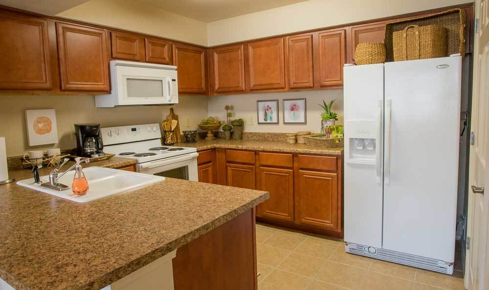 View of A Beautiful Kitchen in Our 1 Bedrooms Apartments