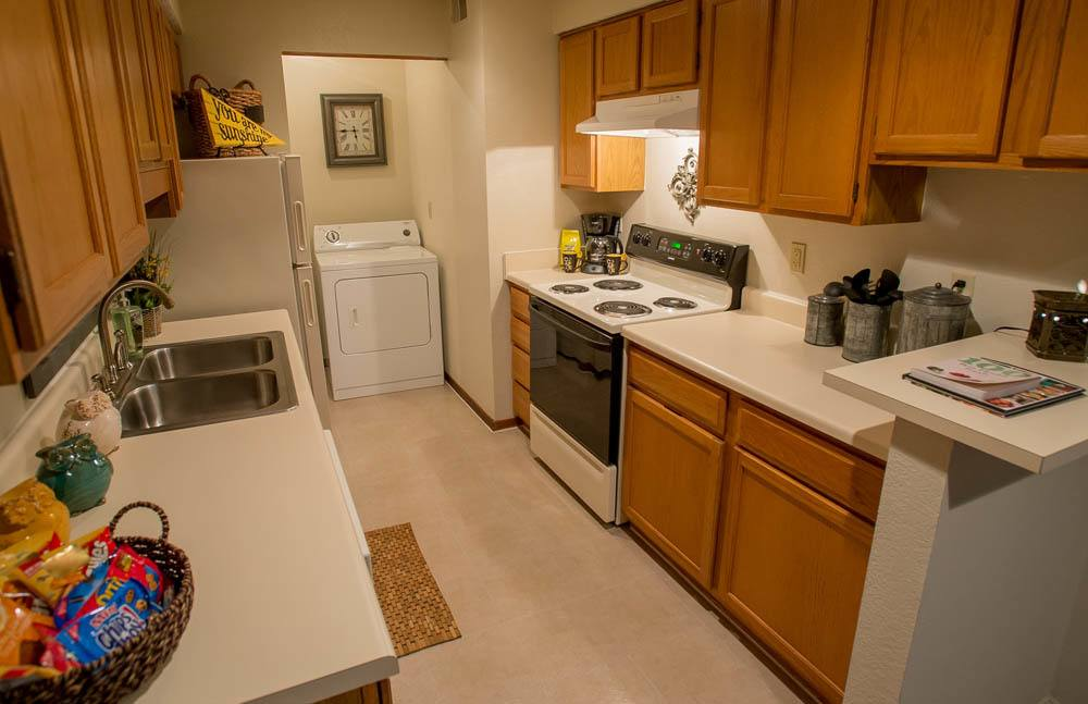 Kitchen at Polo Run Apartments