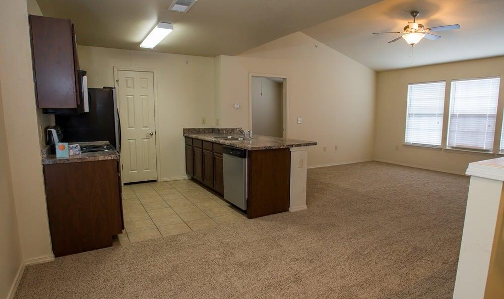 Empty apartment in Tulsa, OK