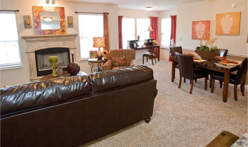Living space at Tuscany Place