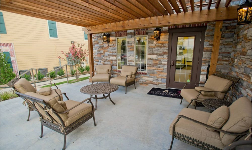 Relax outside at Tuscany Place