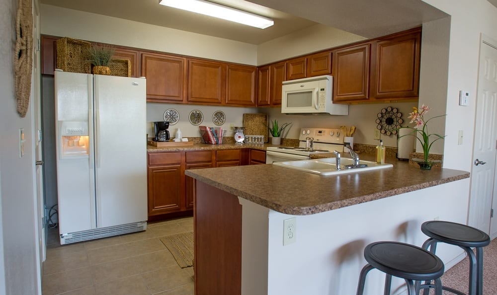 Kitchen at apartments in Owasso
