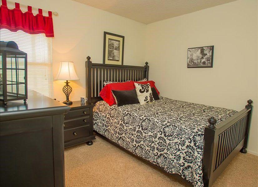 Modern bedroom at Tulsa apartments