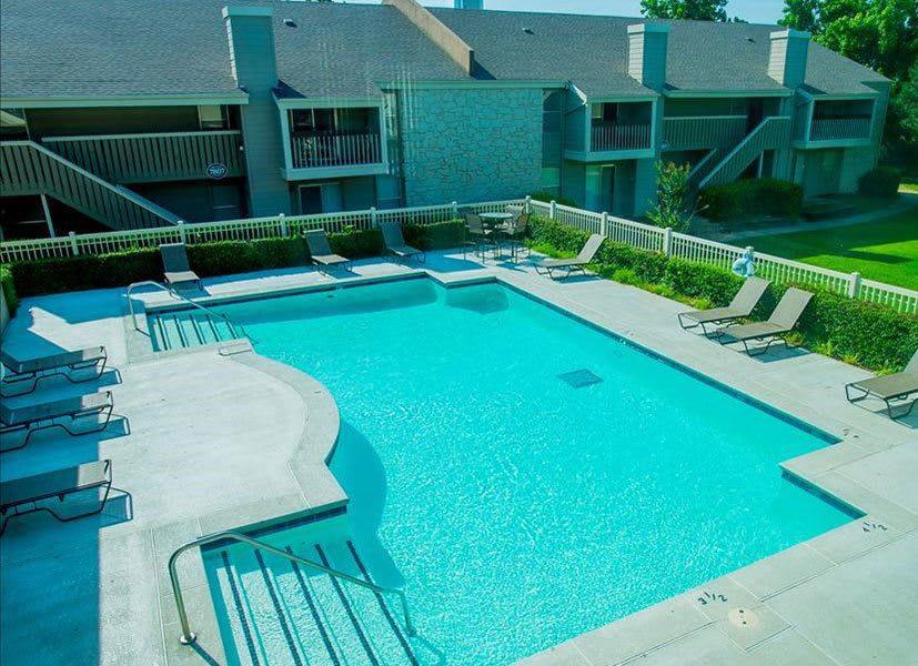 Swimming pool at apartments in Tulsa