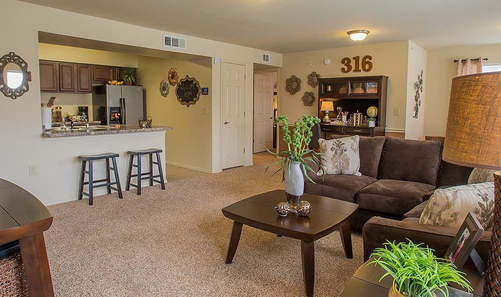 Broken Arrow Apartments with large living spaces