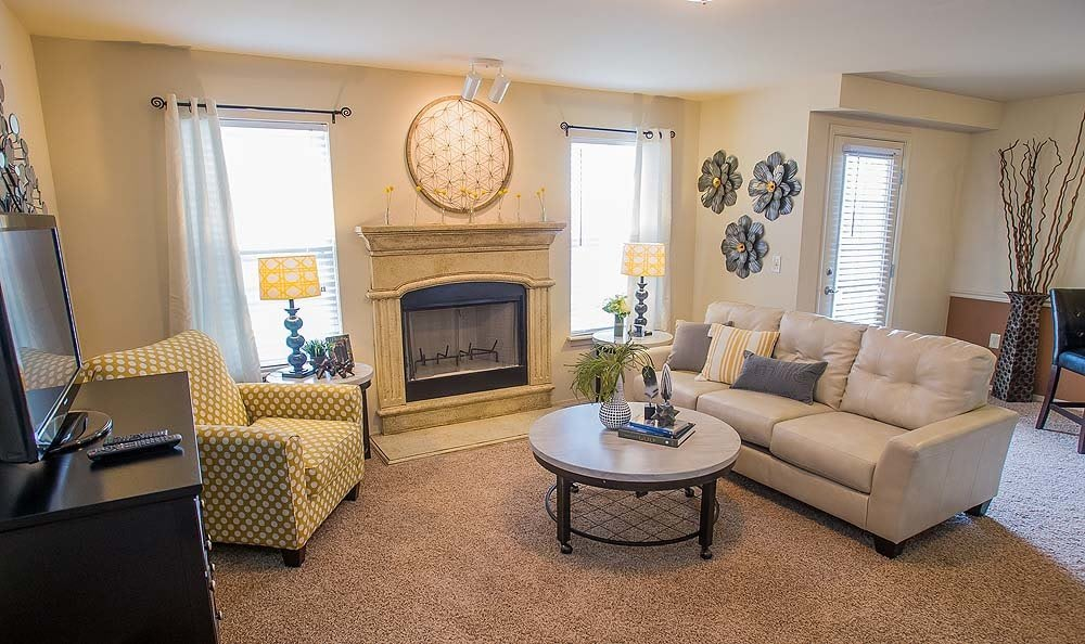 Relax in your living room at Park at Mission Hills