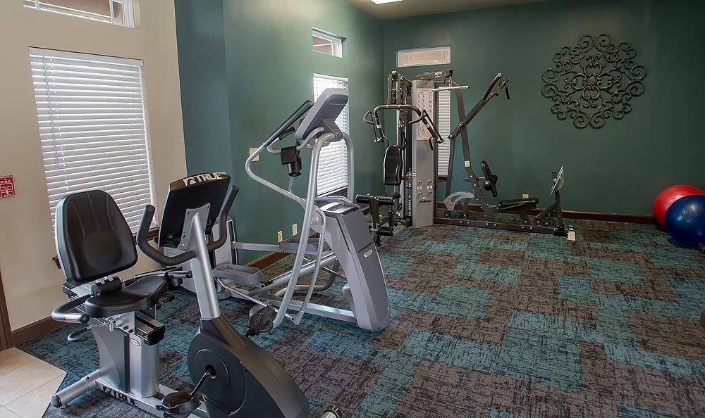 Fitness center at Park at Mission Hills