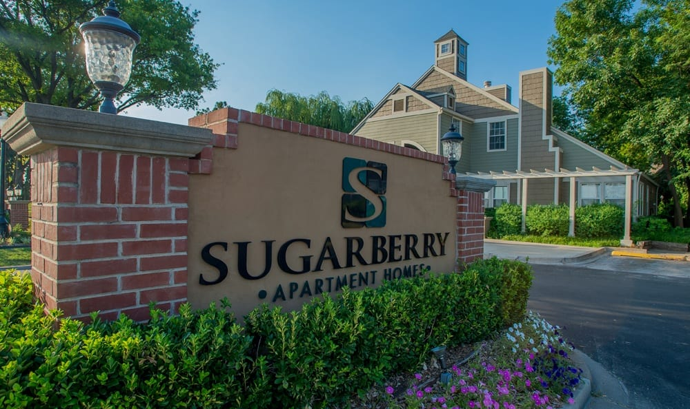 Signage at Sugarberry Apartments