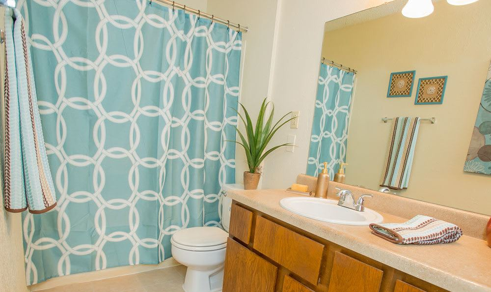 Bright bathroom in our Tulsa apartments