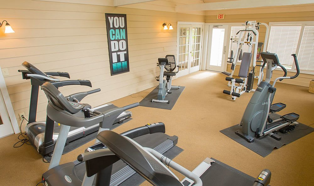 Fitness area at Tulsa apartments