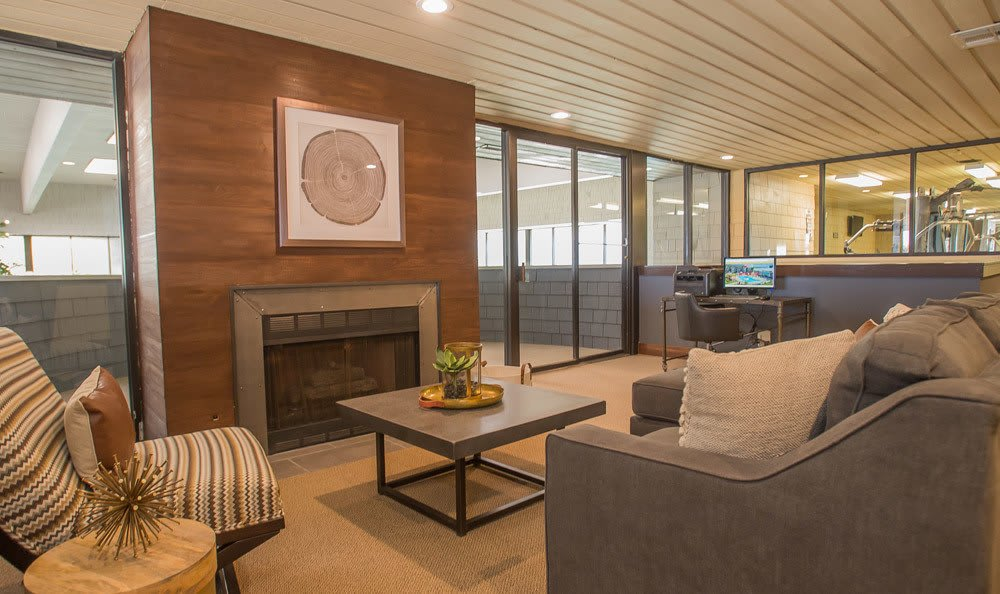 Sunchase Apartments Fireplace and Seating Area