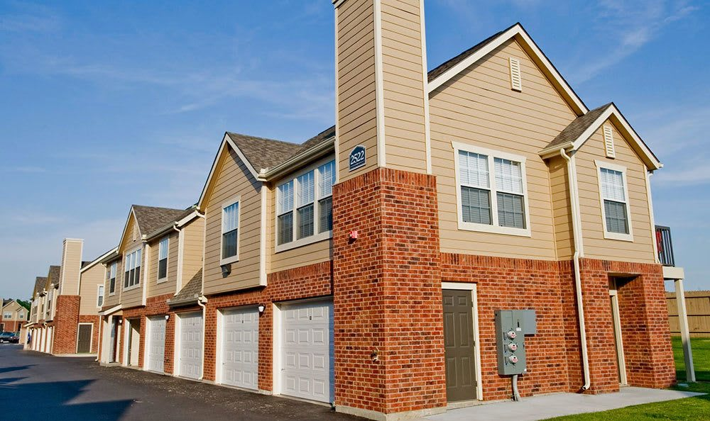 Garages available at our Broken Arrow apartments