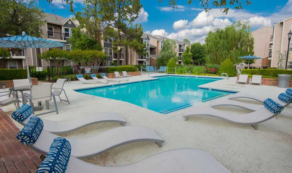 Swimming pool at Waterford Tulsa Apartments