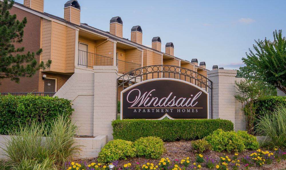 Entry Sign at Windsail Apartments