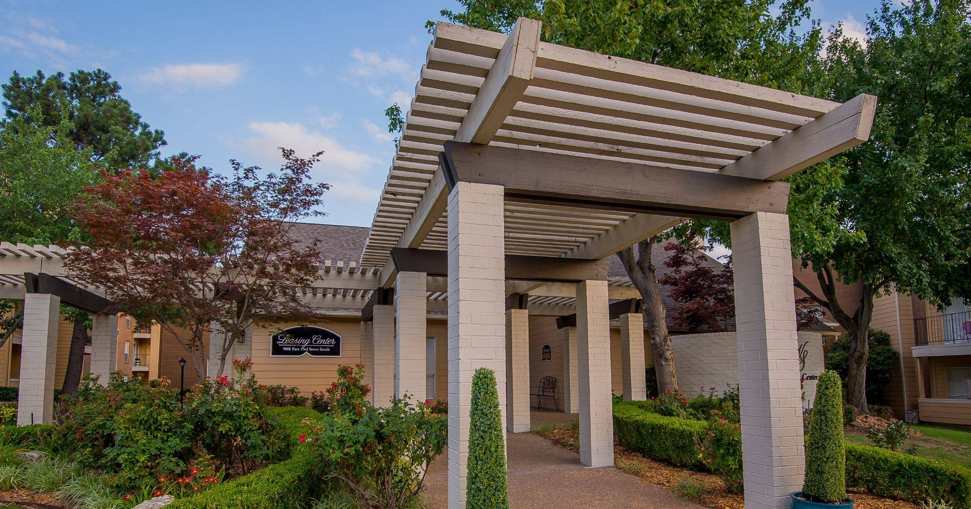 The entrance to apartments at Windsail Apartments