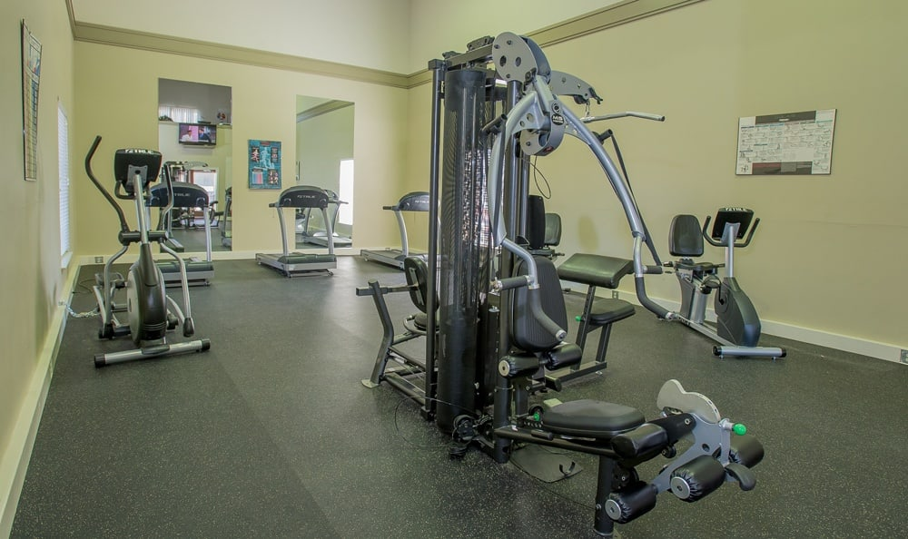 Fitness center at Windsail Apartments