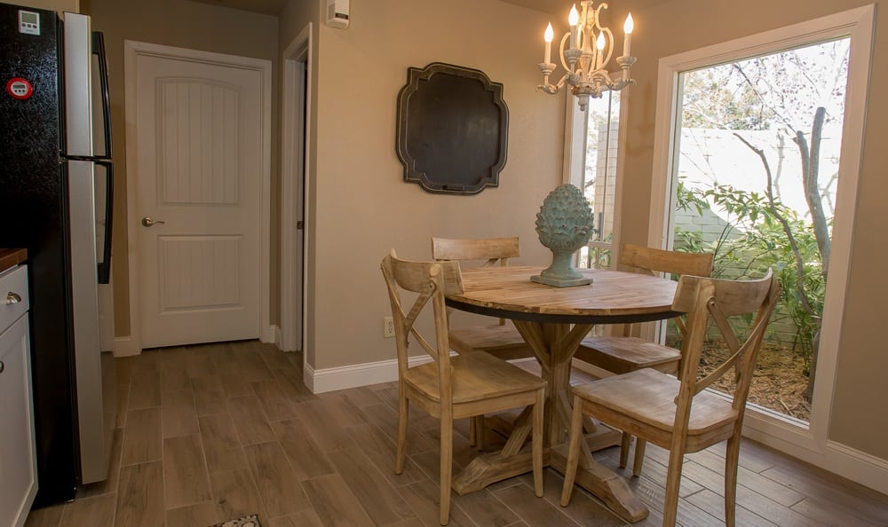 Dining area at Windsail Apartments