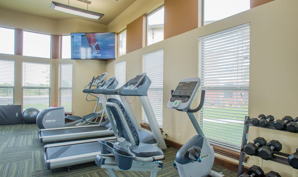 flat screen TVs in the fitness center